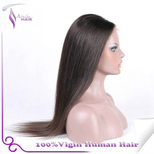 Wholesale Indian remy hair full lace wig /lace front wig 2015 sexed silky straight hair