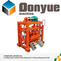 QT40-2 small business investment fly ash brick machine in Tanzania