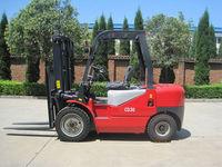3Ton Automatic Diesel Forklift trucks With Japan Isuzu C240 engine