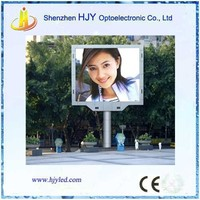 full hd media player p8 led display outdoor big video screen