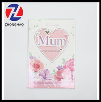 2015 new arrived unique flower and butterfly design decorative make customized printing die cut Mather's day card