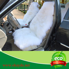hot sale shee fur car seat cover black and white made in china