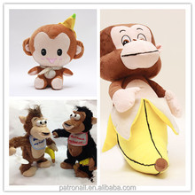 LED flashing sounds Stuffed Animal,Plush Monkey ,Chimp, Animated Toy
