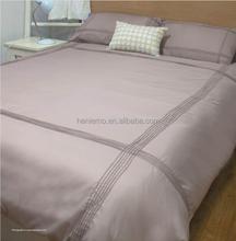 High-quality modern style wrinkle free plain duvet cover set Super Soft 100% polyester