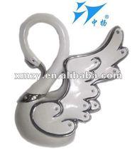 de porcelana blanca con el diamante decoración de cisne