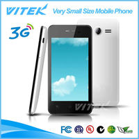Alibaba WIFI Android 3G WCDMA 4 inch Very Small Size Mobile Phone