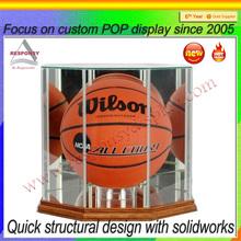 clear Plexiglass square basketball /ball display box
