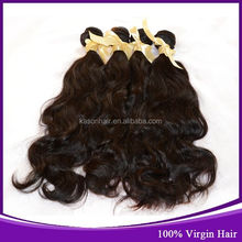 Wholesale 100% Virgin Unprocessed Remy Full Cuticle No Tangle No Shedding Natural Wave Brazilian Hair Weave Blonde And Brown