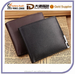 Simple high quality men's leather wallet for business