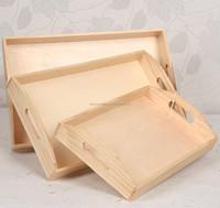Food grade Pine wood tray FSC wooden fruit tray wholesale