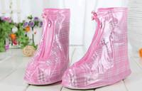 Colorful PVC waterproof shoe covers rain boot wholesale