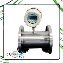 Turbine totalizing flow meter for liquid