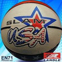 good new official size new style rubber made 8 inches rubber basketball