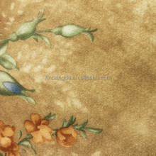 soft tropical flower printed sofa cover fabric