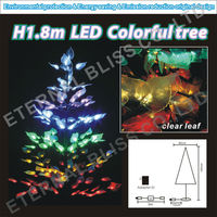 "H1.8m/70""/70inch/6'/6Ft outdoor large artificial metal ornament display lighted tree"