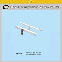 YB-G023new style metal bracket adjustable glass tray