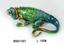 High quality metal trinket box Lizard