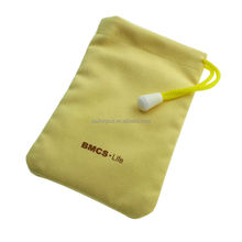 for mobile phone power bank microfiber velvet dust bag