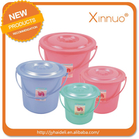 Small Size cheap plastic bucket with lid plastic handle Europe style plastic bucket