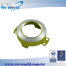 CNC turning anodized aluminum camera lens cover for mobile phone