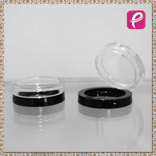 Round clear compact powder case cosmetic packaging