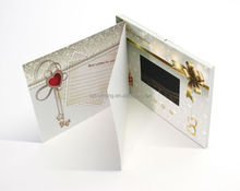 Artificial Style and Wedding Decoration & Gift Use Video greeting card