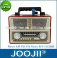 retro am fm sw radio portátil con la batería recargable