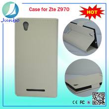 Newest modest leather wallet cheap mobile phone in china case for zte z970
