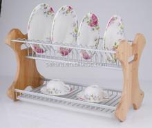 Aluminum steel Wire kitchen dish rack,kitchen rack plate holder