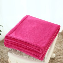 Simple & Opulence 2015 new rose red fleece blanket sofa throws 100% Polyester wholesale high quality