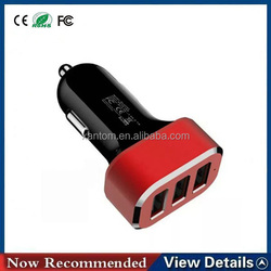 New 3 Usb Ports In-car Mobile Phone Charger Mobile Chargers Accessories For Car, High Quality Usb Car Charger