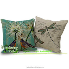 Double birds vintage dragonfly cushion covers wedding decoration on car the gift for lover