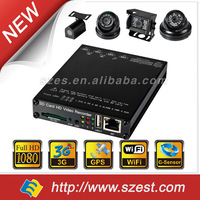 Easy Storage 1CH 2CH 4 Ch GPS/GNSS mobile DVR,vehicle dvr 1080p mini sd card mdvr