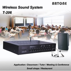 ARTONE T-206 60wx2 usb fm bluetooth low frequency high power teaching amplifier