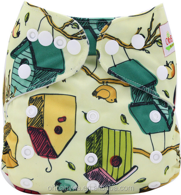 Ohbabyka all in one size waterproof baby diaper , wholesale baby nappies diapers baled