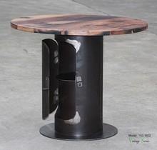 Triumph vintage industrial Outdoor Garden table/ industrial garden table/industrial vintage metal bar table