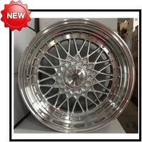 14 15 16 17 inch 4x100 5x100 5x114.3 car alloy wheels blue