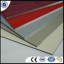 PE coating Interior and pvdf coating Exterior wall decorative material aluminum plastice composite panel