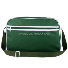 Unisex Retro Large School Laptop Messenger 600D Polyester Nylon Shoulder Satchel Bag Polyester Sport Bag