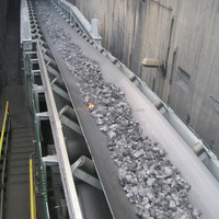 Heat resistant rubber flat conveyor belts