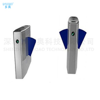Building Controlled Access Turnstiles Flap Barrier Turnstile Entry Systems