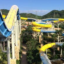 2015 canton fair new large fiberglass water slide
