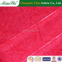 95% polyester 5% spandex spun polyester velvet in India for dresses, legging ,germent ,velvet fabric in Iraq