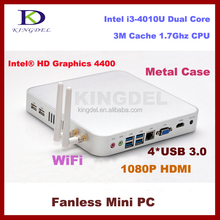 Bulk Intel core i3 4010U mini pc with 4G RAM+32G SSD Intel HD 4400 Graphics, VGA,300M WIFI,linux ubuntu