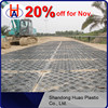 oilfield drilling rig floor mat, portable roadway mat, hdpe ground protection panel
