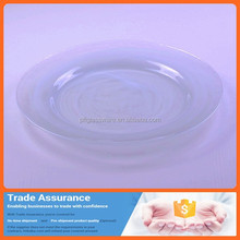 Promotional hot sale dinner use white plate / custome design round dish