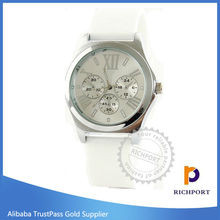 colourful cheapest gift watch OEM factory promotion silicon wrist watch