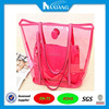 2015 best selling ladies handbag set with small bag inside transparent pvc beach bag