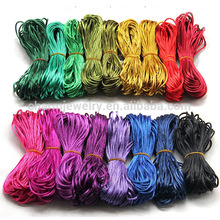 1.5mm cuerda de bricolaje pulsera shamballa multicolor cuerda de nylon nudo chino brazalete de perlas de cuerdas bd002