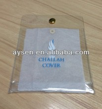 pvc clear plastic pouch with button